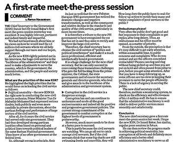 A first-rate meet-the-press session